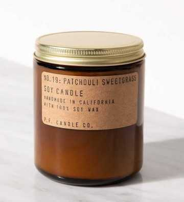 Patchouli Sweetgrass - Moyenne Jarre P. F. Candle - 2