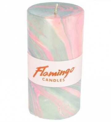 Pink Petrol - Bougie Marbre Flamingo Candles - 1