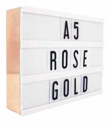 Lightbox A5 Rose Gold Locomocéan - 1
