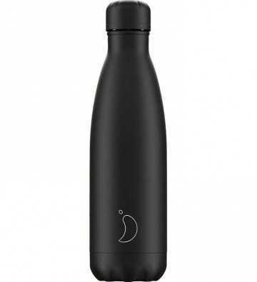 Bouteille Monochrome All Black - 500ml Chilly'S Bottle - 1