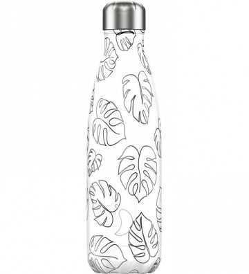 Bouteille Line Art Feuilles leaves - 500ml Chilly'S Bottle - 1