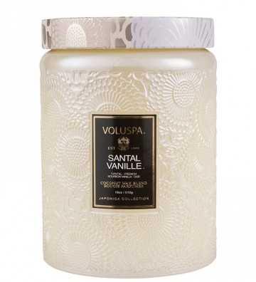 Santal Vanille - Grande Bougie Voluspa - 1