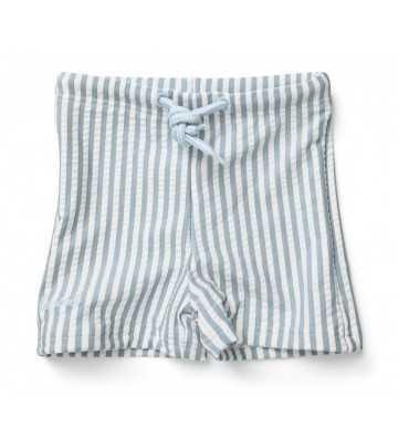 Short de bain rayures bleu/blanc Liewood - 1