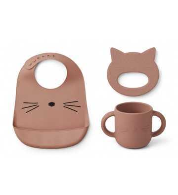 Set silicone Repas Chat Rose Liewood - 1