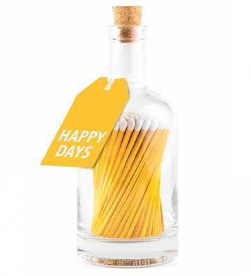 Bouteille d'Allumettes Happy Days Jaune Archivist - 1
