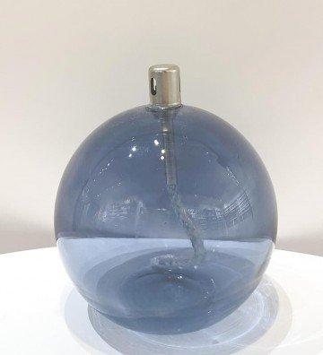 Boule Bleue M - Lampe à huile