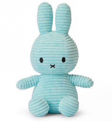 Lapin Miffy velours bleu...