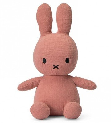 Lapin Miffy mousseline rose...
