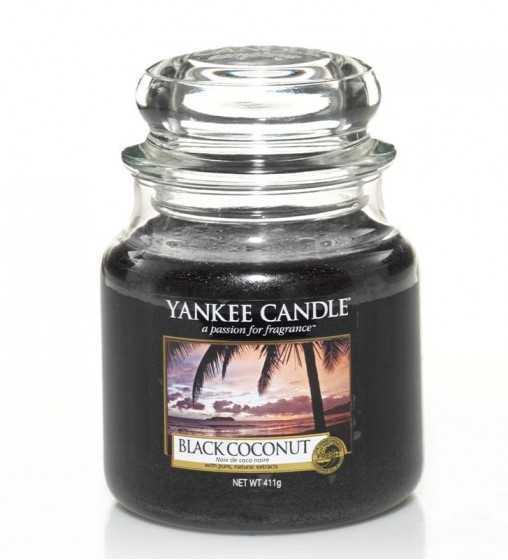 Noix de coco noire - Moyenne Jarre Yankee Candle - 1