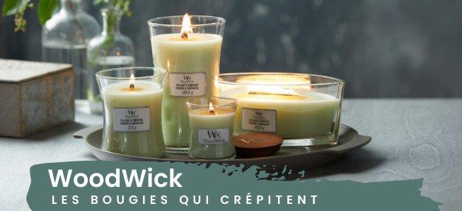 Les bougies WoodWick